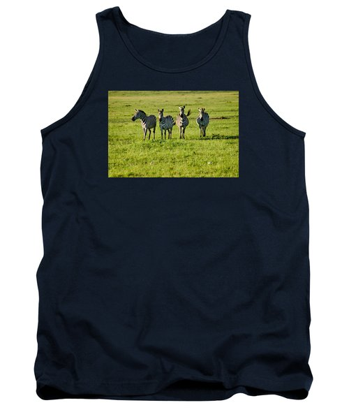 Four Zebras Tank Top