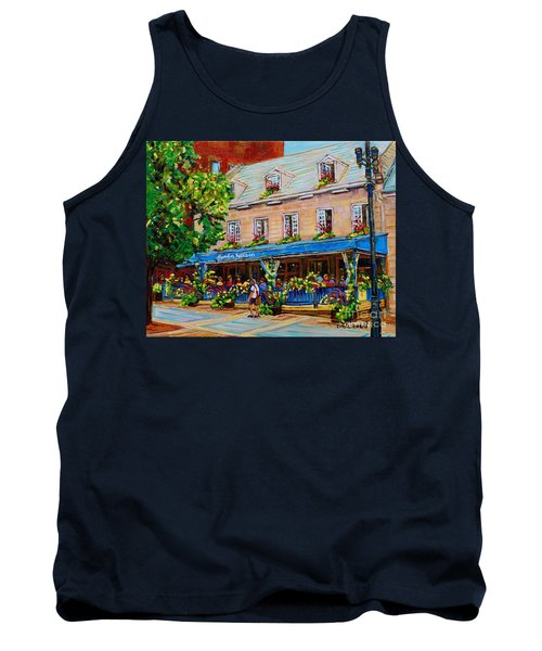 French Restaurant Jardin Nelson Paris Style Bistro Place Jacques Cartier Terrace Garden C Spandau   Tank Top