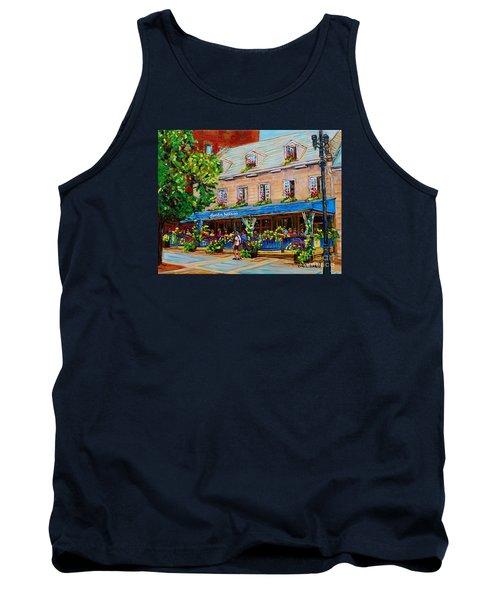 French Restaurant Jardin Nelson Paris Style Bistro Place Jacques Cartier Terrace Garden C Spandau   Tank Top