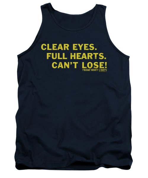 Friday Night Lights - Clear Eyes Tank Top