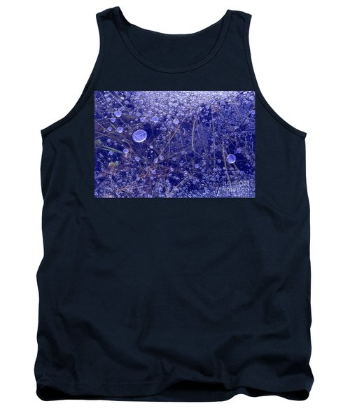 Frozen Bubbles In The Merced River Yosemite Natioinal Park Tank Top