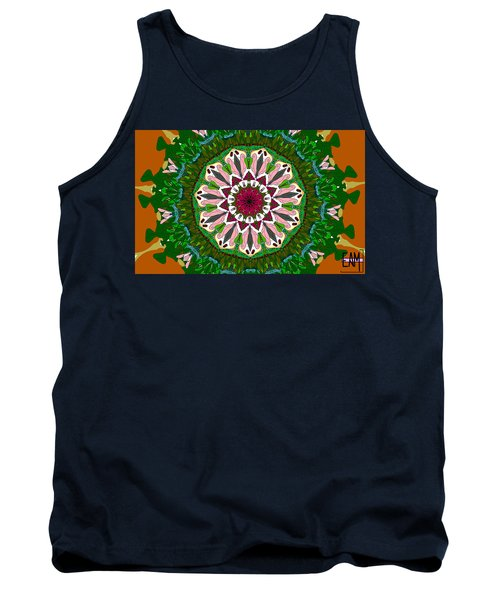 Tank Top featuring the digital art Garden Party #2 by Elizabeth McTaggart