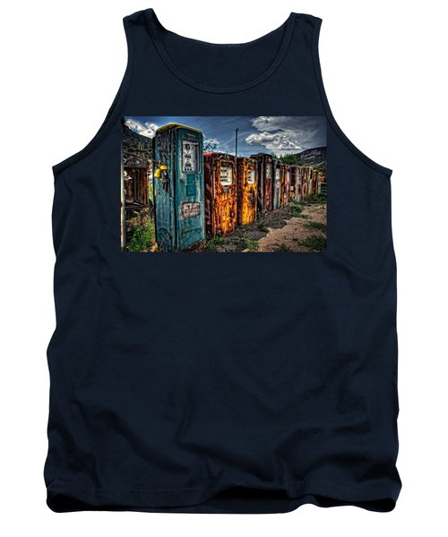 Tank Top featuring the photograph Gasoline Alley by Ken Smith