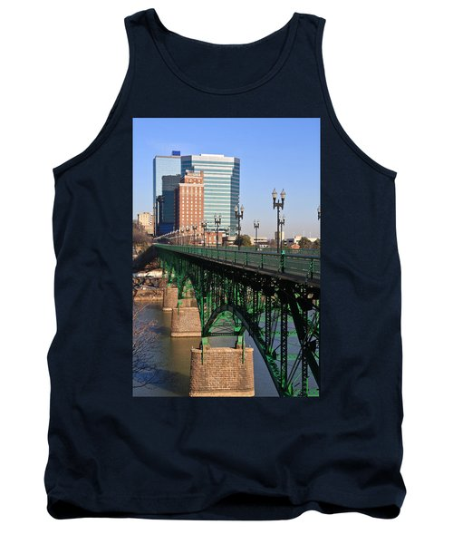 Gay Street Bridge Knoxville Tank Top by Melinda Fawver