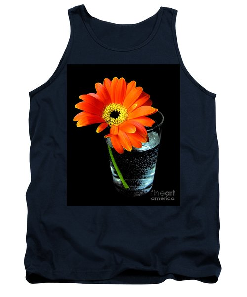 Tank Top featuring the photograph Gerbera Daisy In Glass Of Water by Nina Ficur Feenan