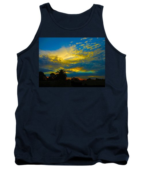 Gold And Blue Sunset Tank Top