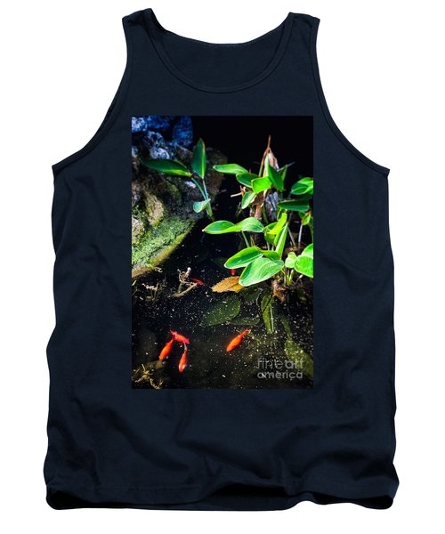 Tank Top featuring the photograph Goldfish In Pond by Silvia Ganora