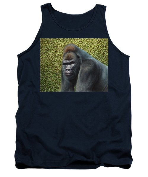 Gorilla With A Hedge Tank Top