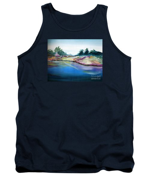 Tank Top featuring the painting Gowrie Creek Spring by Therese Alcorn