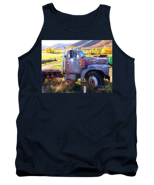 Tank Top featuring the photograph Grandpa's Mack Truck by Jackie Carpenter