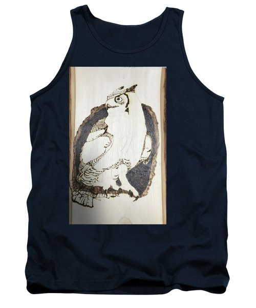 Tank Top featuring the digital art Great Horned Owl by Terry Frederick
