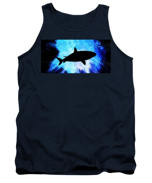 Tank Top featuring the painting Great White by Aaron Berg