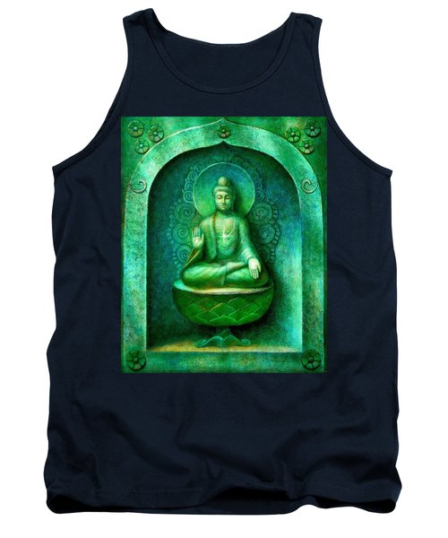 Green Buddha Tank Top by Sue Halstenberg