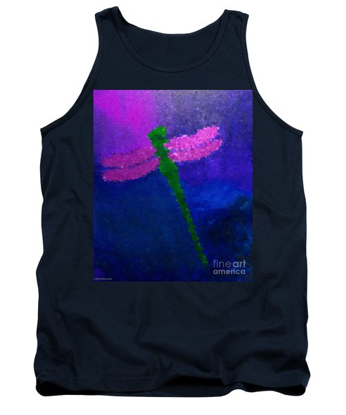 Tank Top featuring the painting Green Dragonfly by Anita Lewis