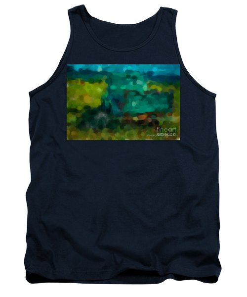 Green Truck In Abstract Tank Top