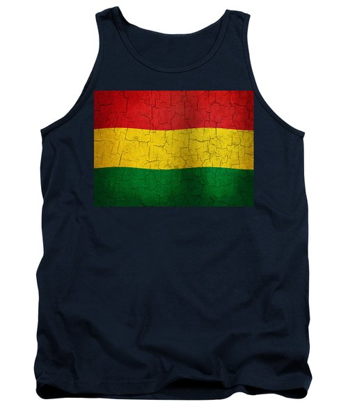 Grunge Bolivia Flag Tank Top