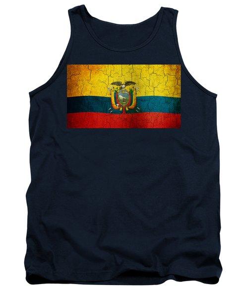 Grunge Ecuador Flag Tank Top