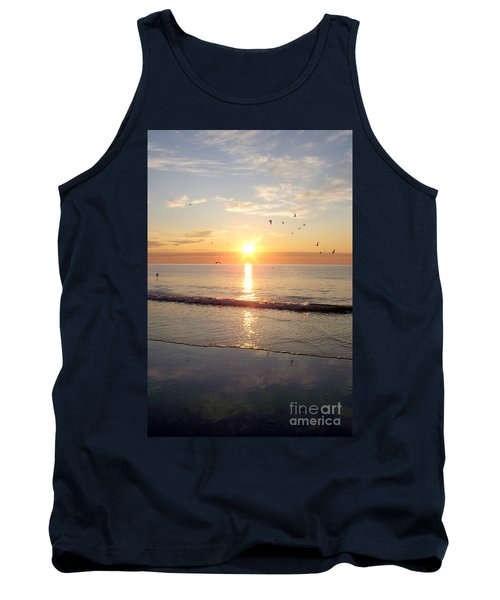 Tank Top featuring the photograph Gulls Dance In The Warmth Of The New Day by Eunice Miller