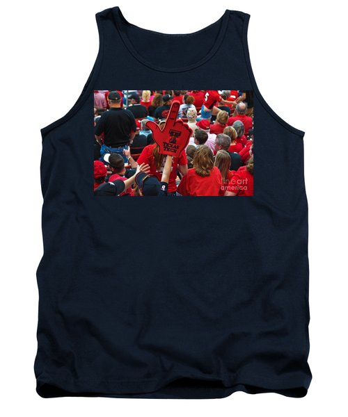 Tank Top featuring the photograph Guns-up Salute by Mae Wertz