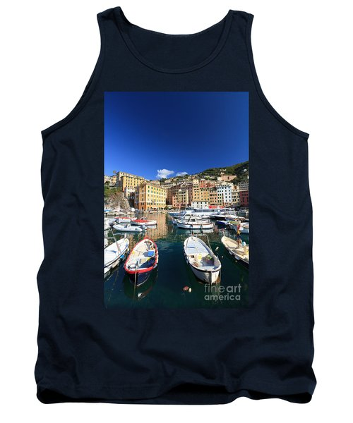 Tank Top featuring the photograph Harbor With Fishing Boats by Antonio Scarpi