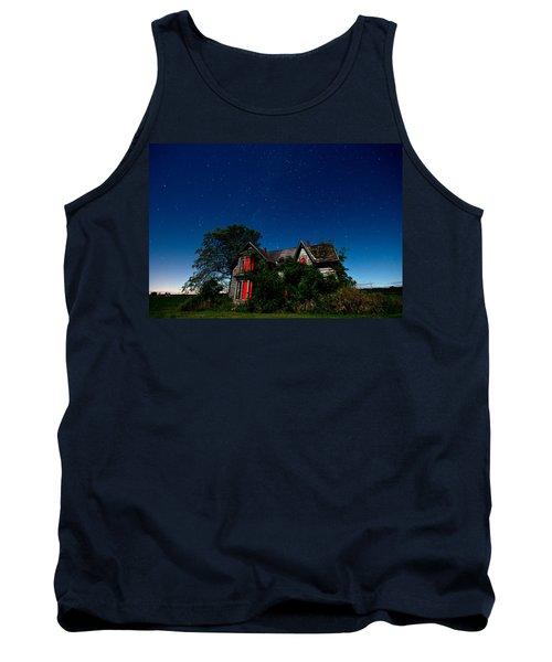 Haunted Farmhouse At Night Tank Top