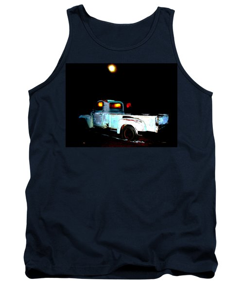 Tank Top featuring the digital art Haunted Truck by Cathy Anderson