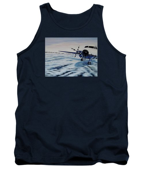Tank Top featuring the painting Hawker - Airplane On Ice by Marilyn  McNish