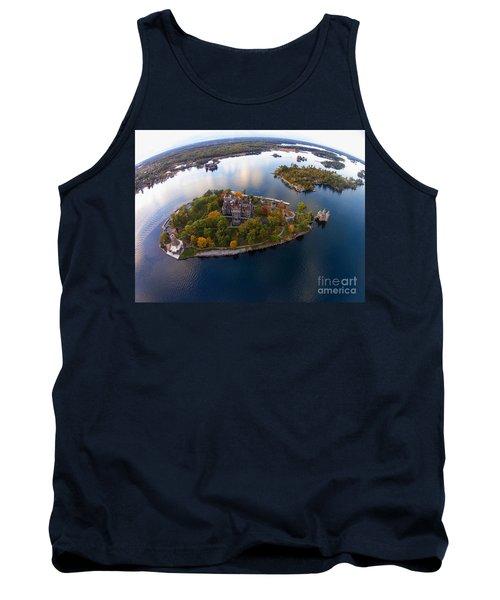 Heart Island George Boldt Castle Tank Top by Tony Cooper