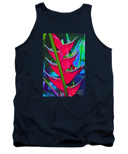 Heliconia Abstract Tank Top
