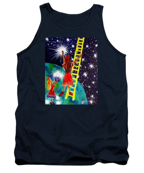 Tank Top featuring the painting Helping Hands by Jackie Carpenter