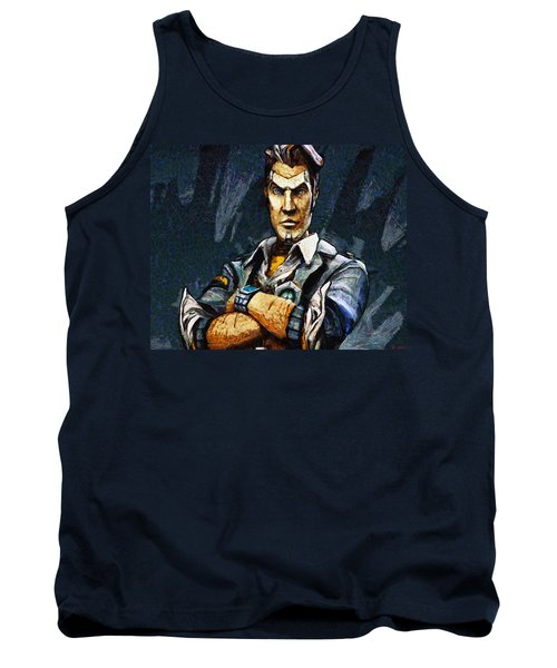 Hey Vault Hunter Handsome Jack Here Tank Top by Joe Misrasi