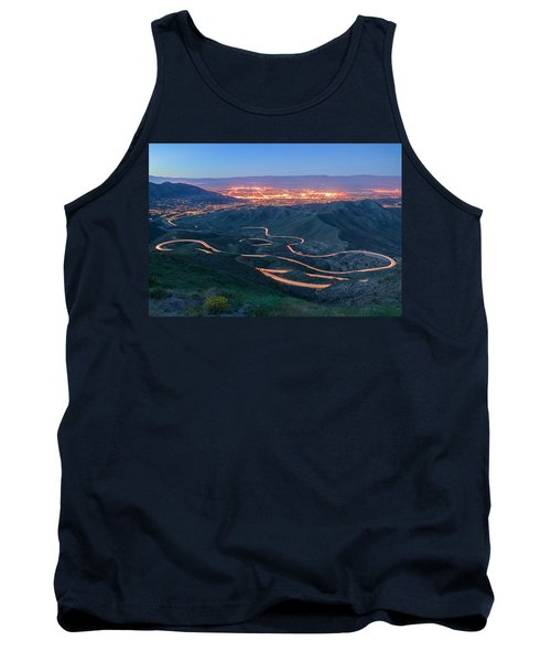 Highway 74 Palm Desert Ca Vista Point Light Painting Tank Top