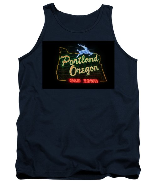 Historic Portland Oregon Old Town Sign Tank Top