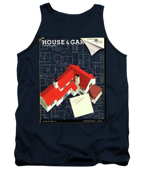 House And Garden Houses With Plans Cover Tank Top