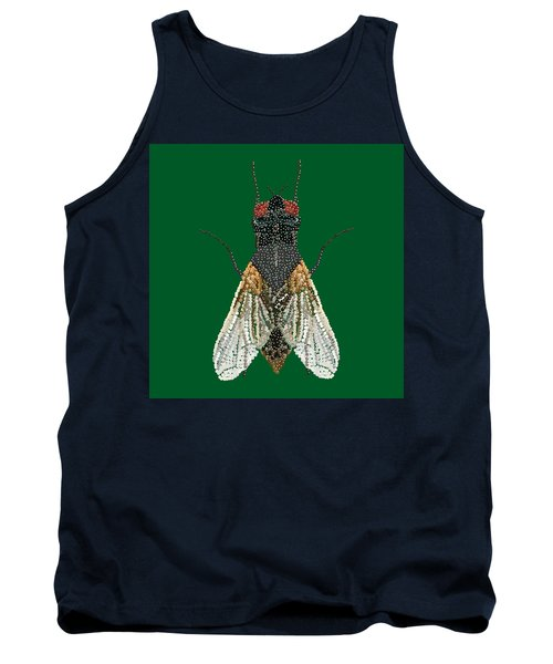 House Fly In Green Tank Top