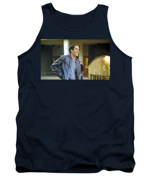 Tank Top featuring the painting I Love You Babe by Luis Ludzska