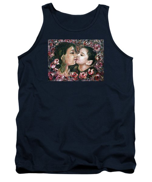 Tank Top featuring the painting I Love You Mom by Harsh Malik