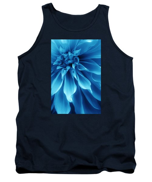 Ice Blue Dahlia Tank Top by Bruce Bley