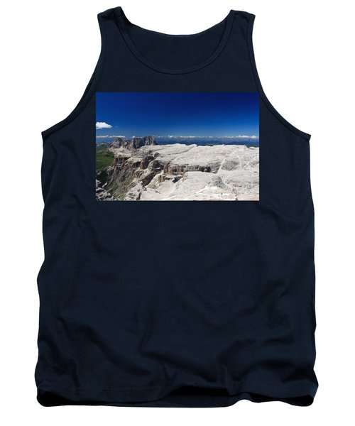 Tank Top featuring the photograph Italian Dolomites - Sella Group by Antonio Scarpi