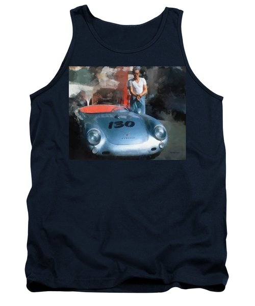 James Dean With His Spyder Tank Top