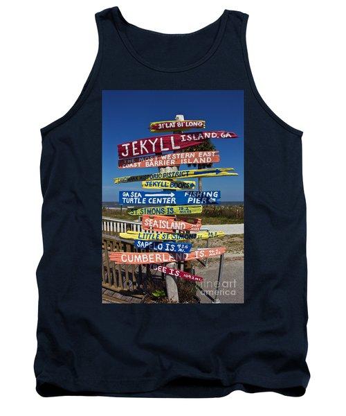Jekyll Island Sign Tank Top