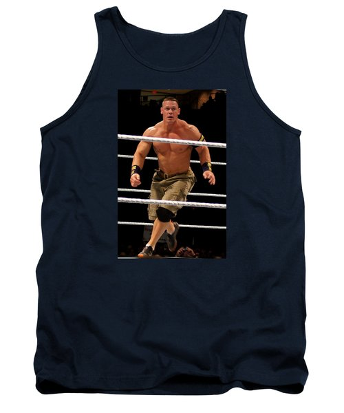 John Cena In Action Tank Top by Paul  Wilford