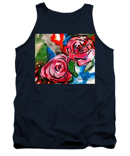 Juicy Red Roses Tank Top