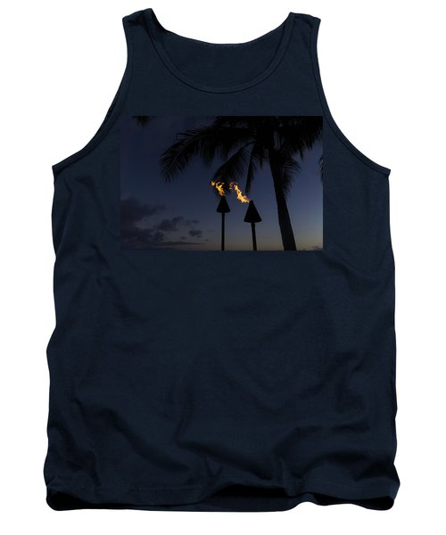 Just After Sunset The Beach Party Is Starting Tank Top