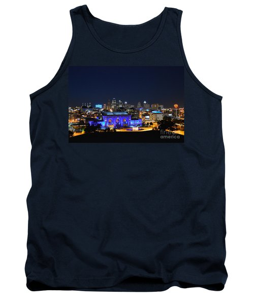 Kansas City Union Station In Blue  Tank Top by Catherine Sherman