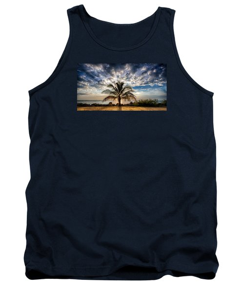 Key West Florida Lone Palm Tree  Tank Top