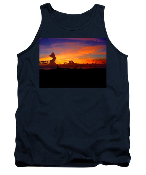 Tank Top featuring the photograph Key West Sun Set by Iconic Images Art Gallery David Pucciarelli