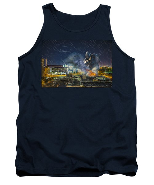 Tank Top featuring the photograph King Kong By Ford Field by Nicholas  Grunas