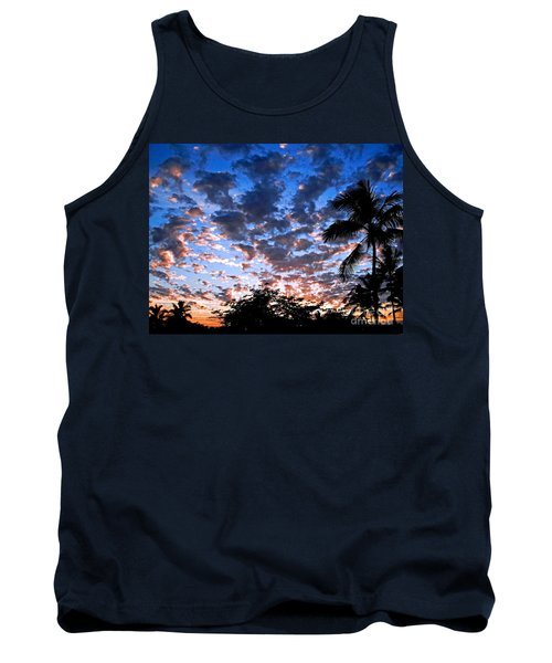 Tank Top featuring the photograph Kona Sunset by David Lawson