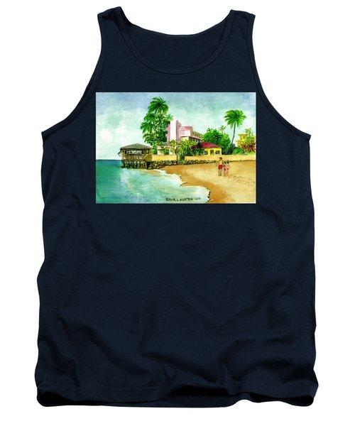 La Playa Hotel Isla Verde Puerto Rico Tank Top by Frank Hunter